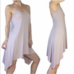 Coocu pale pink Tiered Flowy side dress